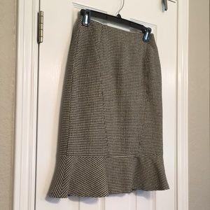 Carlisle houndstooth skirt